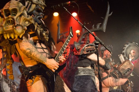 Members of Gwar performing in Vancouver 14 Nov 2014