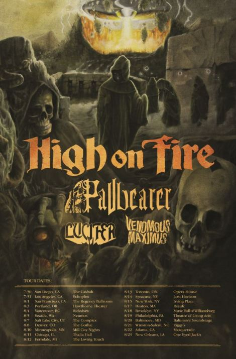 High on Fire 2015 North America Tour Poster