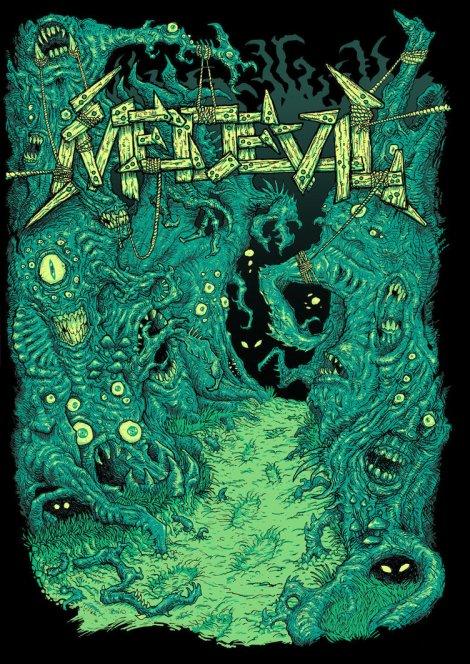 """Nightwalk"" - Medevil t-shirt graphic by Tom Abel"