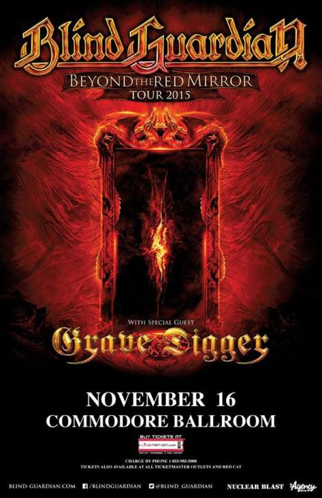 Blind Guardian - tour poster (Vancouver)