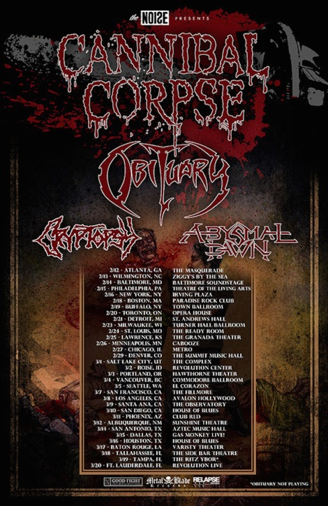 The Noise presents Cannibal Corpse