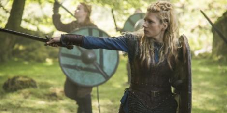 Winnick as shield maiden Lagertha (Photo credit: Bernard Walsh)