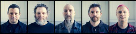 Neurosis, 2016 (L to R): Noah Landis, Scott Kelly, Steve Von Till, Jason Roeder, and Dave Edwardson. Photo credit: Scott Evans