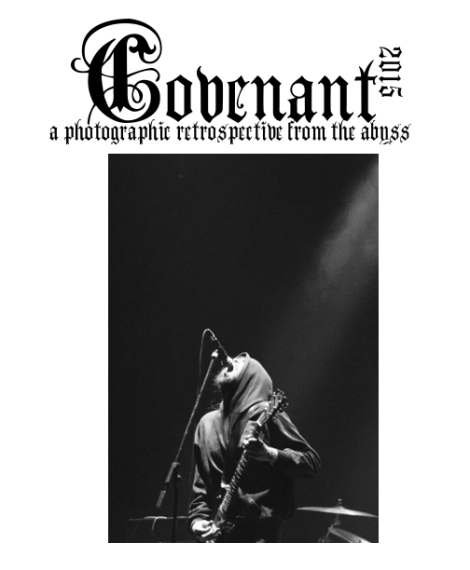 Cover of the 2015 Covenant retrospective photo zine. (Pictured: Deathwinds at Rickshaw Theatre.)